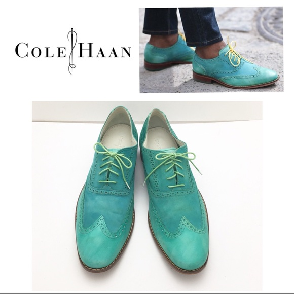 Cole Haan Other - Cole Haan Air Colton Wingtip Blue Green Oxford 6d119e9054a